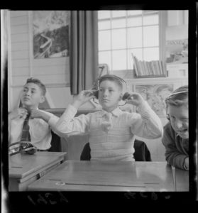 deaf children at school