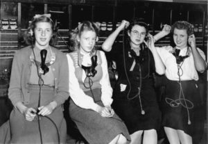 Telphone operators, circa 1920s. Taken by an unidentified photographer Ref: PAColl-5469-047